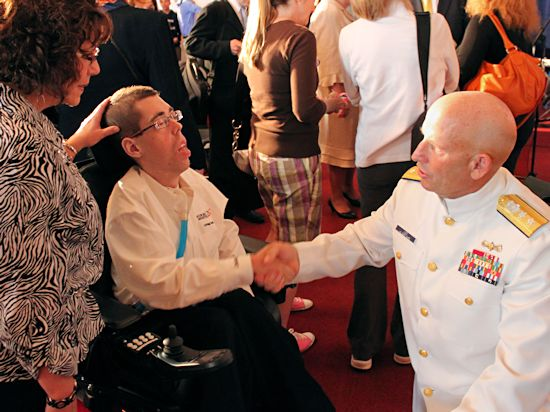 Jacob Berry Ministries: Jacob Berry with Rear Admiral William D. Lee, United States Coast Guard